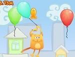 لعبة القط و البالونات