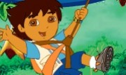 لعبة مغامرات دورا وموزو في رحلة تصوير في الغابه