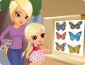 لعبة تلبيس الام وبنتها في المتحف