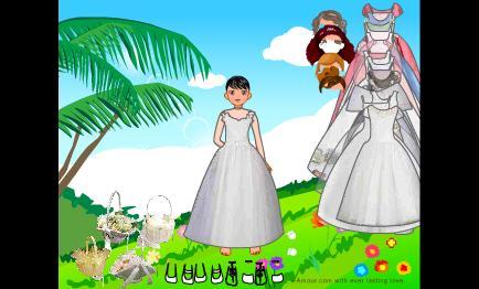 العاب تلبيس عروسه
