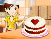 لعبة طبخ الكيكة الحمراء