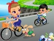 لعبة تلبيس على الدراجة