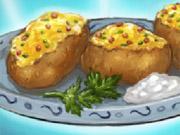 لعبة طهى البطاطس المشوية فى الفرن