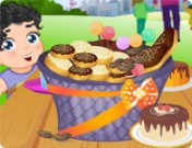 لعبة تزيين سلة الحلويات