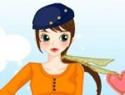 لعبة تلبيس الفتاة الحسناء