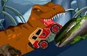 لعبة سيارة الحديقة الجوراسية و الديناصورات