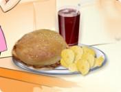 لعبة طبخ ساندوتشات الدجاج المشوي