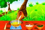 لعبة طبخ الدجاج بالخضار التايلندية