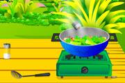 لعبة طبخ الخضار المقلية