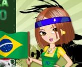 العاب تلبيس مشجعات البرازيل