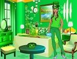 لعبة ديكورالغرفة الخضراء