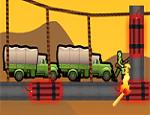 لعبة تفجير الجنود على الجسر