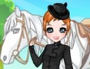 لعبة تلبيس الفتاة والحصان