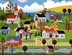 لعبة ديكور مدينة الخريف