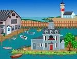 لعبة ترتيب القرية الساحلية