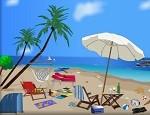 لعبة ترتيب الشاطئ الرملي