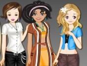 العاب تلبيس ثلاث بنات