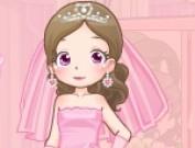 لعبة تلبيس العروسة فستان زهري
