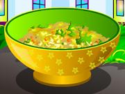 لعبة طبخ طبق الرز بالخضار