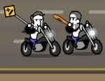 لعبة انتقام قائد الدراجة النارية