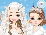 لعبة مكياج تلبيس عروسة الثلج