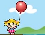 لعبة الطفلة و البالون