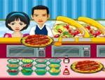 مطعم البيتزا المزدحم
