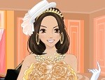 تلبيس العروسة في قاعه العرس