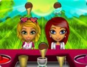لعبة مطعم ايسكريم البنات و الحيوانات