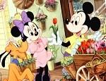 تلوين ميكي ماوس في محل بيع الورود