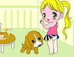 لعبة تلوين بنوتة صغيرة مع كلبها