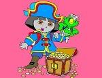 لعبة تلوين دورا وكنزل القراصنة