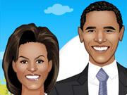 لعبة تلبيس اوباما وزوجته