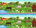لعبة الاختلافات بين صور الحيوانات
