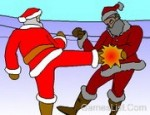لعبة قتال بابا نويل
