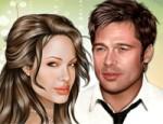 لعبة مكياج براد بيث وانجلينا جولي