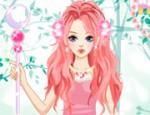 لعبة تلبيس الاميرة الوردية