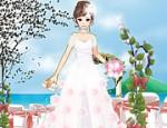 لعبة تلبيس ملابس العرس على الشاطئ